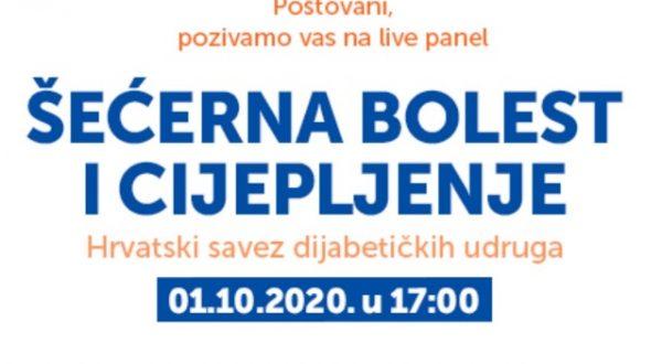 Live panel Šećerna bolest i cijepljenje