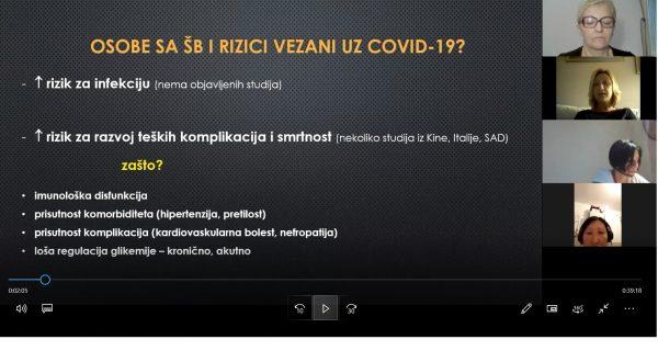 ŠEĆERNA BOLEST I COVID 19 on line predavanje