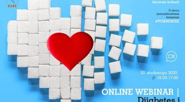 "Online webinar ""Dijabetes i kardiovaskularne bolesti"""